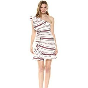 C/MEO Collective One Shoulder Stripe Dress NWT XL
